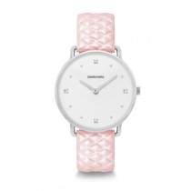 Lambretta watches ~ Giulia 34 Quattro Quilted Silver White Pink - 2269PIN (Woman Style)